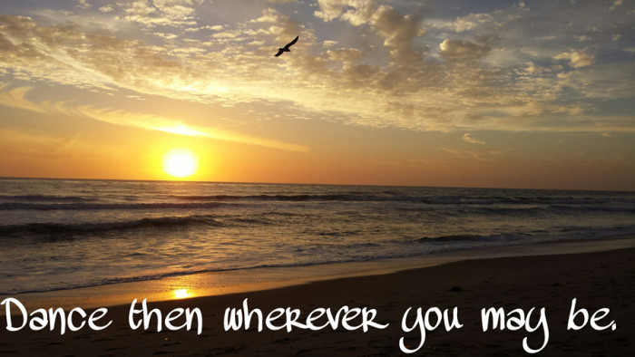 Beach Sunset Inspirational Quote