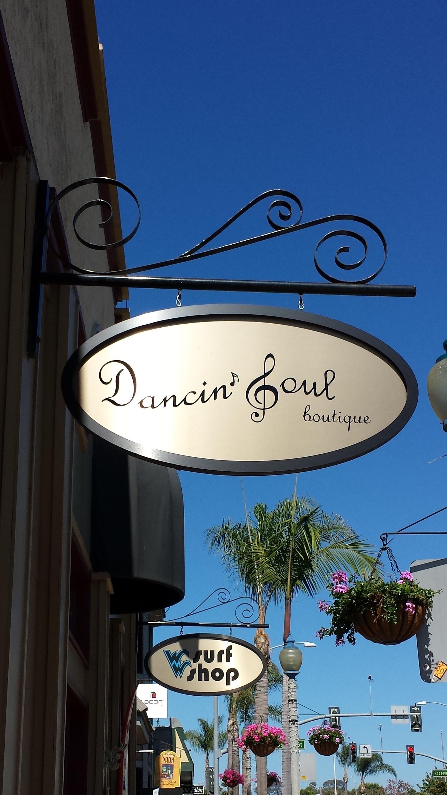 Dancin' Soul Boutique Shop Sign